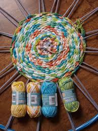Weaving On A Hula Hoop Loom