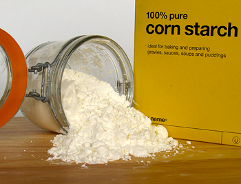 Cornstarch in bath water for diaper rash
