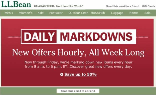 L l bean daily morning markdown for Llbean 2 a day markdown
